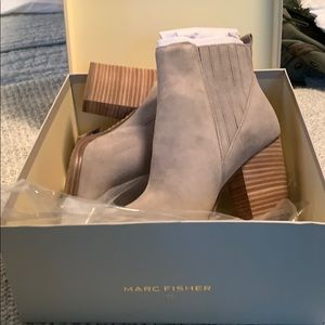 Marc Fisher Alva Bootie/Cloud Suede (BRAND NEW!)